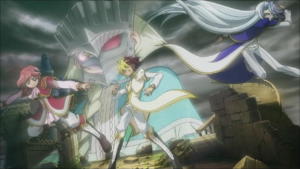 From left to right: Trey, Quattro and Quinton. Back: Vetrix