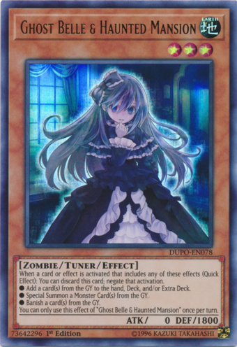 RC03-JP012 Ghost Belle /& Haunted Mansion Collectors Rare alternate art Yugioh