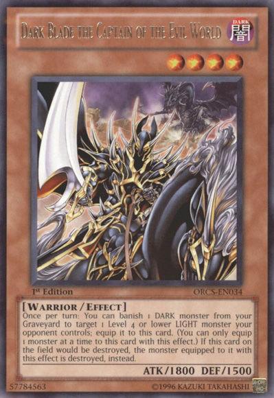 Dark Blade the Captain of the Evil World
