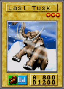 Last Tusk Mammoth