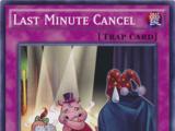 Last Minute Cancel