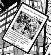Elemental HERO Flame Wingman mangá