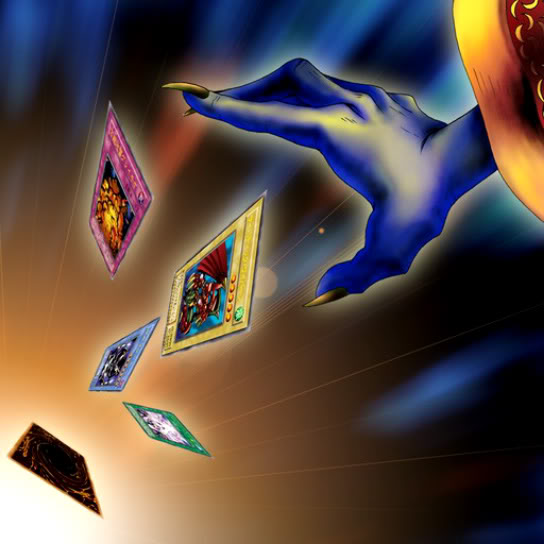 """Artwork of """"Card Destruction"""", a card that discards cards."""