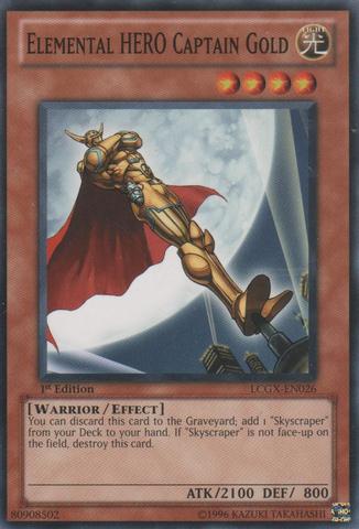 Elemental HERO Captain Gold