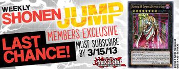 <i>Weekly Shonen Jump</i> March 2013 membership