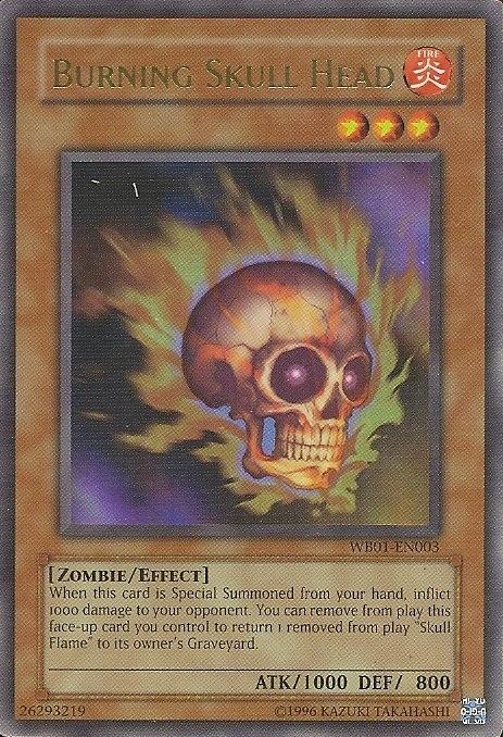 Burning Skull Head