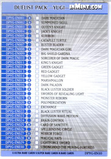 Duelist Pack –Yugi– Checklist