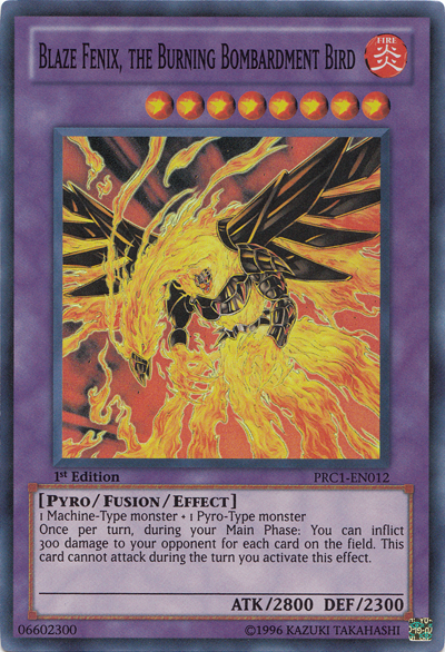 Blaze Fenix, the Burning Bombardment Bird