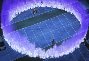 A Shadow Duel in Yu-Gi-Oh! 5D's.