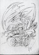 Yusei y Dragón Blanco de Polvo de Estrellas (Kazuki Takahashi)