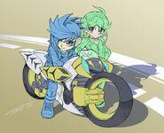 Yugo y Rin por Akihiro Tomonaga