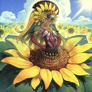 Foto mariña, princesa de los girasoles