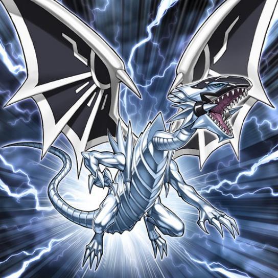 Malicioso Dragón Blanco de Ojos Azules