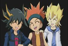 Yusei, Crow y Jack niños.jpg