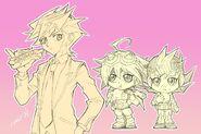 Yusaku, Yuya y Yuma por Tomonaga