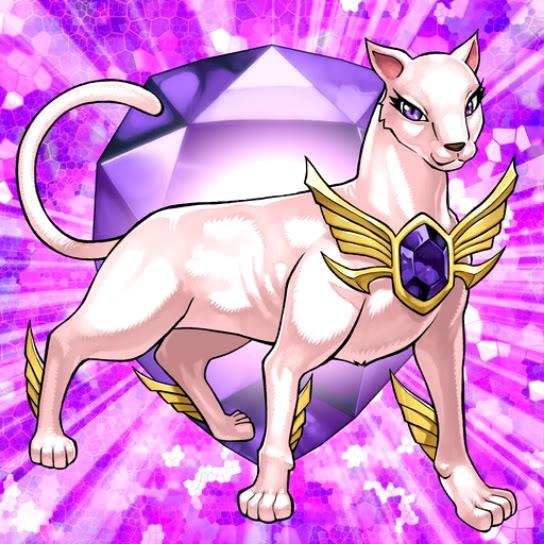Bestia de Cristal Gato Amatista