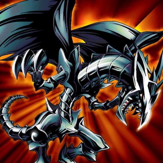 Dragón de Metal Negro Ojos Rojos