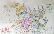 Yuma y Astral por Kagami