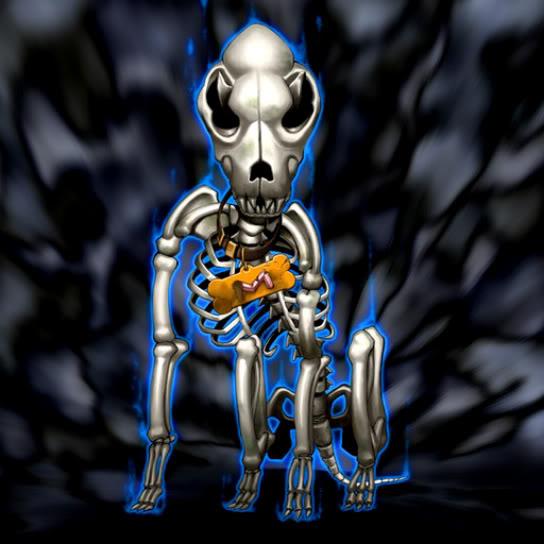 Cráneo Perro Marron