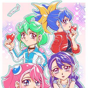 Chicas dimensionales por Tomonaga.jpg