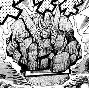 Soldado Gigante de Piedra en el Manga