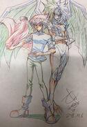 Jaden y Yubel por Gilbo Noh