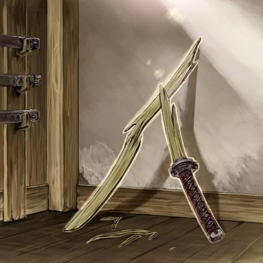 Espada de Bambú Rota