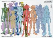 Personajes de ENLACE VRAINS ilustración conceptual
