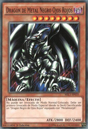 Dragón De Metal Negro Ojos Rojos Yu Gi Oh Wiki En Español Fandom