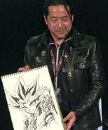 Kazuki Takahashi con dibujo de Yami