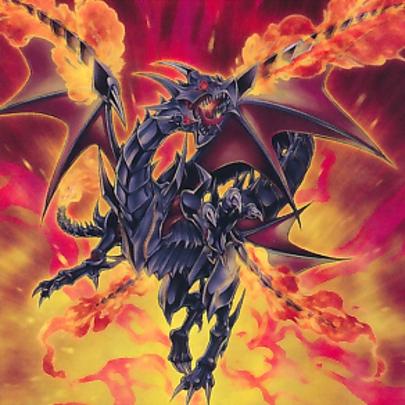 Dragón Negro Resplandeciente de Ojos Rojos