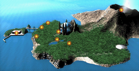 Duel Academy Island map