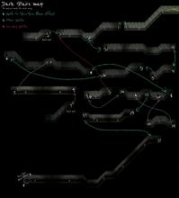 Yume 2kki - dark stairs map