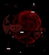 Amorphous maroon space b map