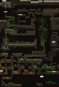 Deserted town map