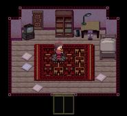 Madotsuki with the bike effect in Madotsuki's room