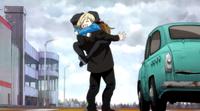 Yuri hugs his grandpa