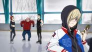 Yuri watch Katsuki's video