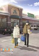 YuruCamp S2 key visual-groceries