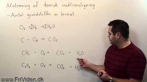 Afstemning af kemisk reaktion