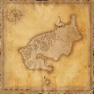 Ostrov Čierneho Rybáka - Mapa