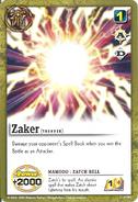 S-001 - Zaker -Zatch Bell-