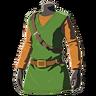 Breath of the Wild amiibo Rune Items (Classic Hero's Clothes Armor Set) Tunic of the Hero (Icon)