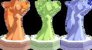 Estatuas Orbes de las Diosas WW