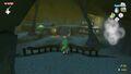 Link al inicio de la Cueva del Dragón.