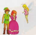 Zelda II - The Adventure of Link Artwork Link, Zelda, and Fairy Spell (Concept Art)