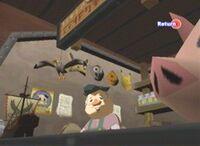 Bill les Mains d'Or derrière son comptoir