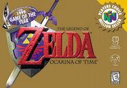 The Legend of Zelda Ocarina of Time Portada