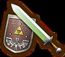 Hyrule Warriors Light Sword Hero's Sword & Hero's Shield (Level 1 Light Sword)