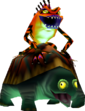 A Gekko riding a Snapper